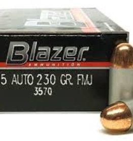 Blazer Ammunition CCI BLAZER 45 AUTO 230 GR FMJ