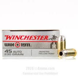 WINCHESTER WINCHESTER 45 AUTO 230 GR BALL M1911 50 COUNT