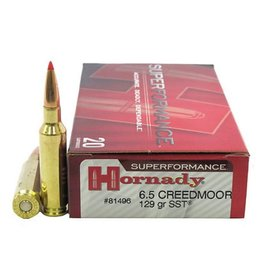 HORNADY HORNADY SUPERFORMANCE 6.5 CREEDMOOR 129 GRAIN SST