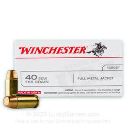 WINCHESTER WINCHESTER 40 S&W 165 GRAIN FMJ 100 RD