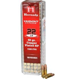 HORNADY HORNADY 22 LR 40 GR COPPER PLATE HP1160 FPS 100 RD