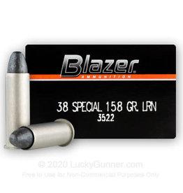 Blazer Ammunition BLAZER 38 SPEC 158 GR LRN