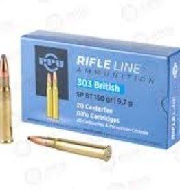 PPU PPU RIFLE LINE AMMUNITION 303 BRITISH SP BT 150GR