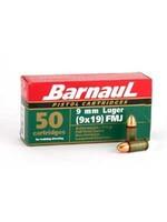 BARNAUL BARNAUL 9 MM  LUGER 115GR FMJ STEEL CASE 50 RNDS