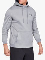 UNDER ARMOUR UNDER ARMOUR MEN'S GREY DOUBLE THROW OVER HOODIE