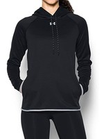 UNDER ARMOUR UNDER ARMOUR MEN'S BLACK DOUBLE THROW OVER HOODIE