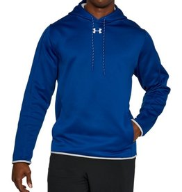 UNDER ARMOUR UNDER ARMOUR MEN'S BLUE DOUBLE THROW OVER HOODIE