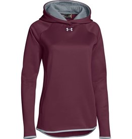UNDER ARMOUR UNDER ARMOUR MEN'S DOUBLE THROW OVER HOODIE BURGUNDY