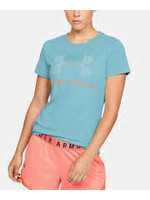 UNDER ARMOUR UNDER ARMOUR WOMEN'S CLASSIC CREW TEE BLUE/ORANGE