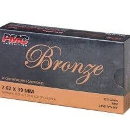 PMC 762A Bronze Rifle Ammo 7.62X39 FMJ, 123 Grains, 2350 fps, 20, Boxed