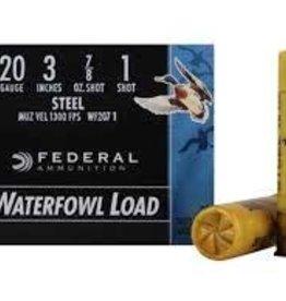 "FEDERAL FEDERAL 20 GA 3"" 1 SHOT SPEED SHOK WATERFOWL STEEL"