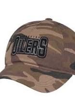 ADIDAS ADIDAS NHL OILERS CAMO CAP WOMENS