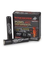 """WINCHESTER WINCHESTER .410 GA 2 1/2"""" PDX1 DEFENDER 3 PLATED DD 12BBS"""