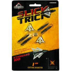 "SLICK TRICK SLICK TRICK 100 GR BROADHEADS 1"" 4/PK"