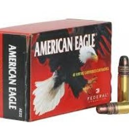 FEDERAL FEDERAL AMERICAN EAGLE 22 LONG RIFLE R 38 GRAIN #AE22 COPPER  SINGLES