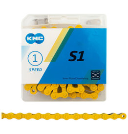 KMC CHAIN S1 SINGLE SPEED YELLOW 112 LINK