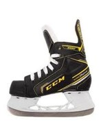 "YOUTH HOCKEY BUNDLE - CCM 9350 SKATE, CCM ULTIMA STICK, WINNWELL 7""-9"" GLOVE & POWERTEK YOUTH HELMET W/CAGE"