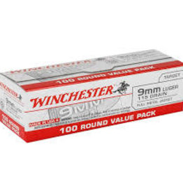 WINCHESTER WINCHESTER AMMO 9MM 115GR FMJ 100CT USA9MMVP