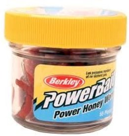 "Berkley Berkley Honey Worm, 1"", 55 per Jar Red  EBPHWR PowerBait Power"