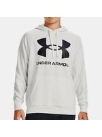 UNDER ARMOUR UNDER ARMOUR RIVAL WHITE LOOSE FIT TERRY HOODIE