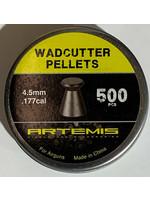 ARTEMIS ARTEMIS WADCUTTER PELLETS 4.5MM .177 500PCS