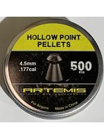 ARTEMIS ARTEMIS HOLLOW POINT PELLETS 4.5MM .177 500PCS
