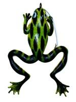 """JIG-A-JO JIG A JO JIG NATURAL FROG 4.5"""" GREEN/BLK WHT BELLY"""