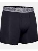 UNDER ARMOUR UA CHARGED COTTON 6'' BOX JOCK-BLK/FUE/FUE SM