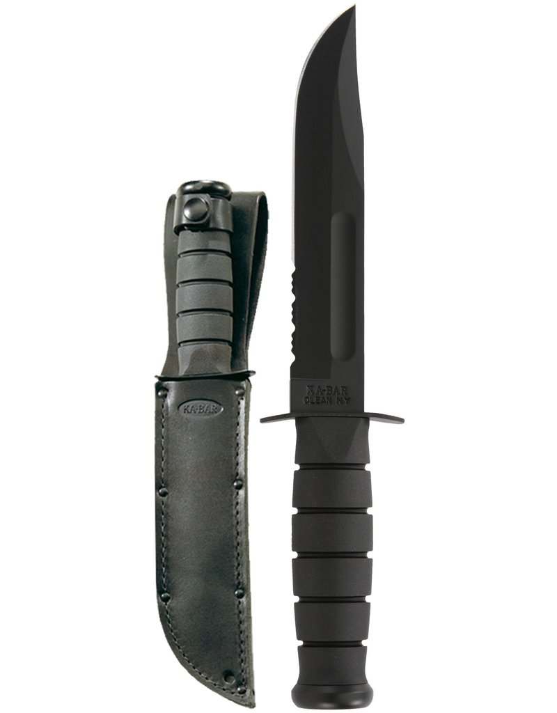 KA-BAR Full Size Black KA-BAR, Serrated Edge