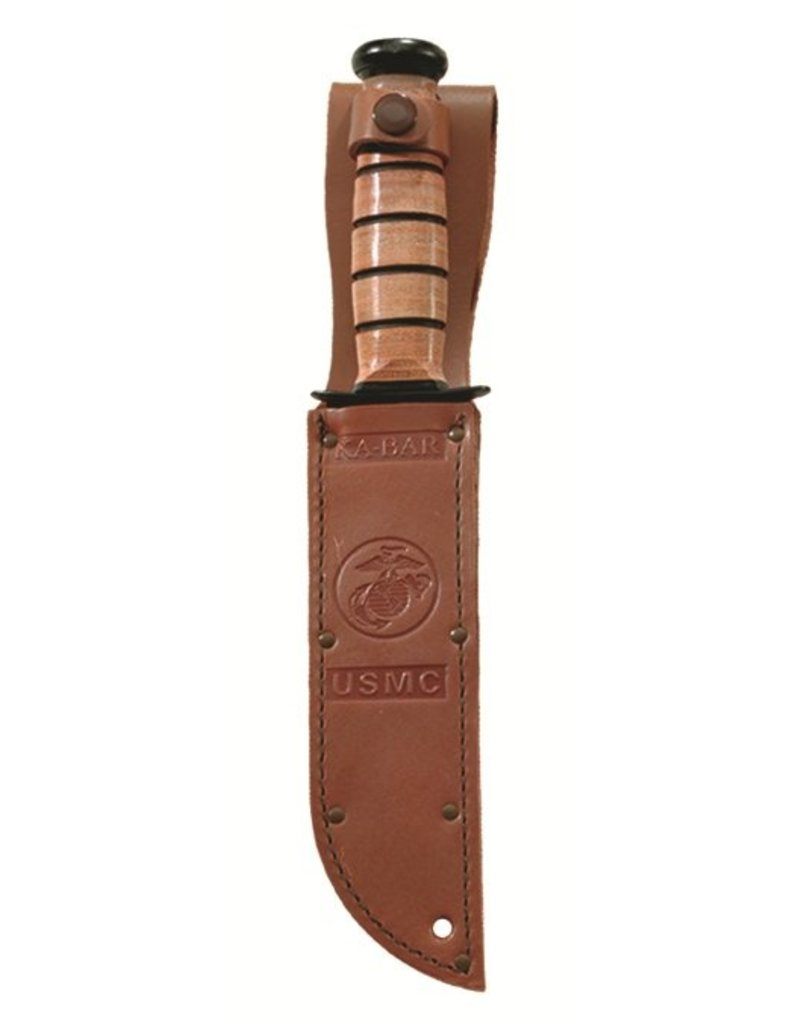 KA-BAR Full-size Brown Leather USMC Sheath
