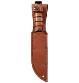 KA-BAR Full-Size Plain Brown Leather Sheath