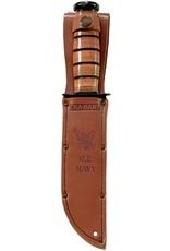 KA-BAR Full-size Brown Leather USN Sheath