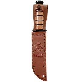 KA-BAR Short Brown Leather USMC Sheath