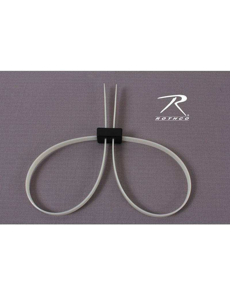 EZ Cuff Double-D Loop Disposable Plastic Restraints
