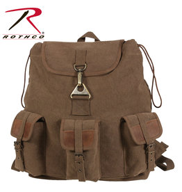 Rothco Vintage Canvas Wayfarer Backpack w/ Leather Accents
