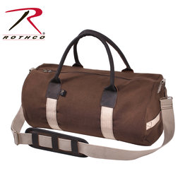 Rothco Canvas & Leather Gym Duffle Bag