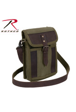 Rothco Canvas Travel Portfolio Bag With Leather Accents