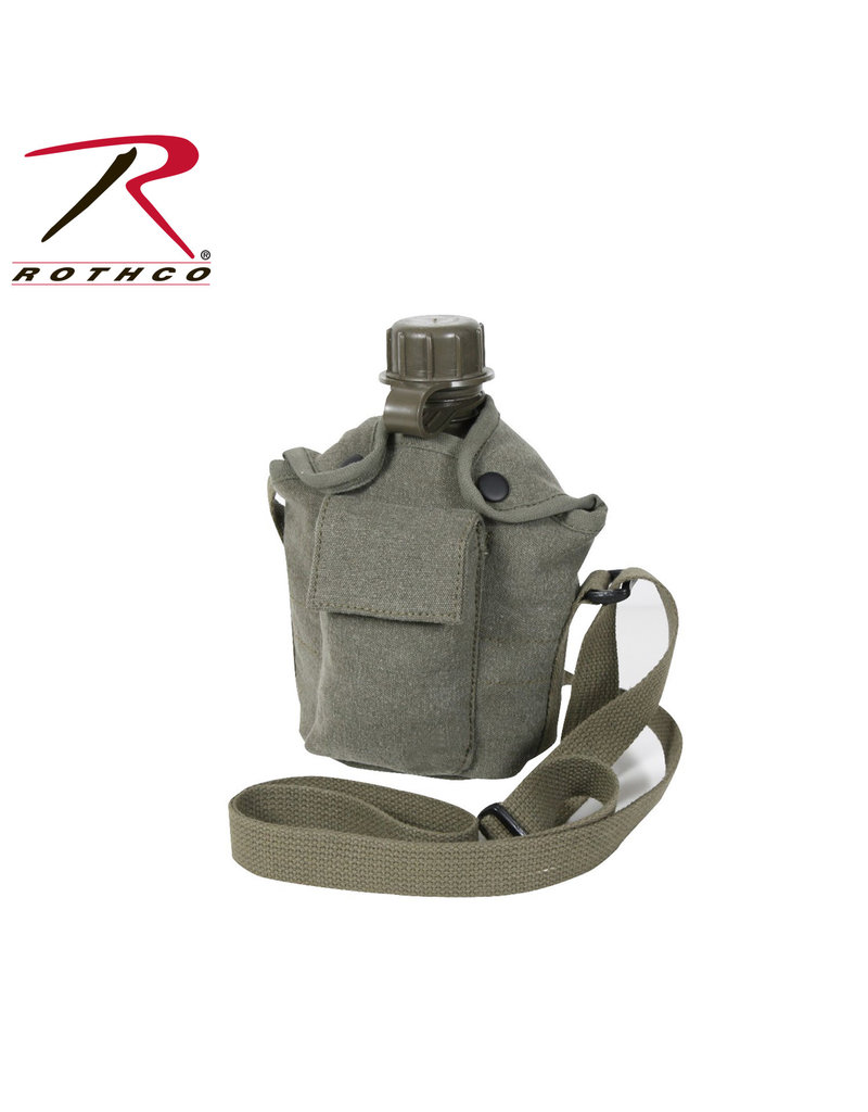 Rothco Canvas Carry-All Canteen Cover With Shoulder Strap