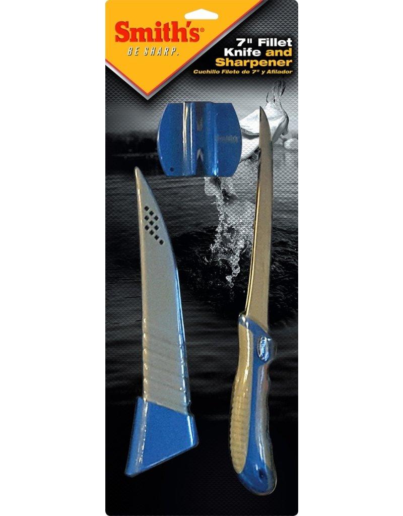 "Smith's 7"" Fillet Knife & Sharpener"