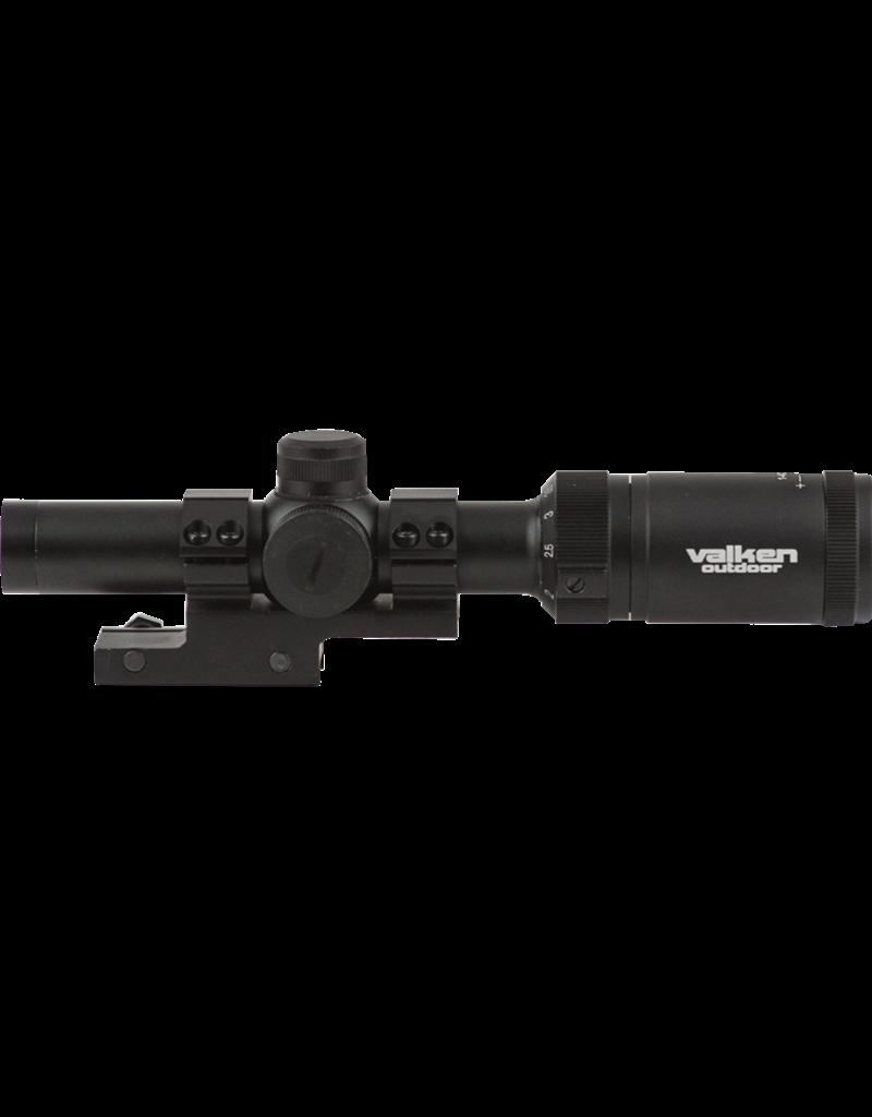 Valken 1-4x20 Scope w/Mount Mil-Dot Reticle