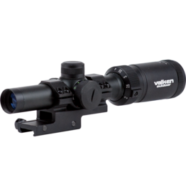 Valken 1-4x20 Scope w/Mount Mil-Dot Reticle