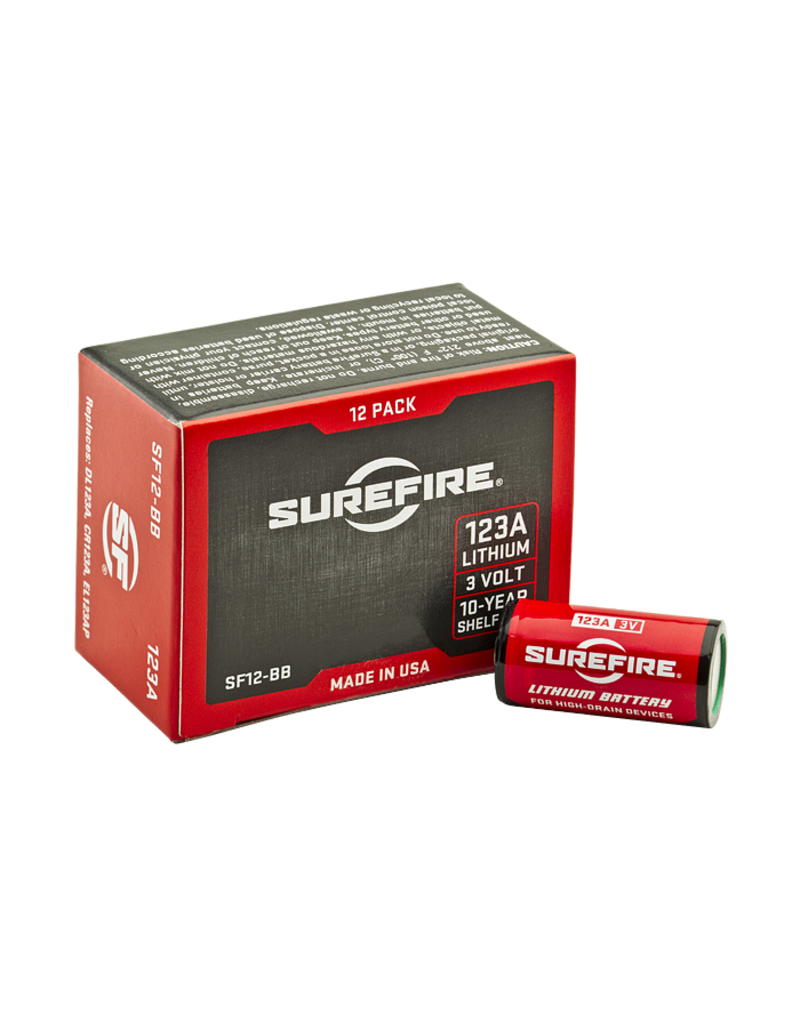 Surefire Box of 123A Lithium Battery (12)