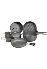 NDūR 9 Piece Cookware Mess Kit With Kettle