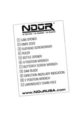 NDūR 11 in 1 Survival Card Tool