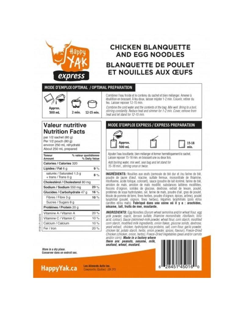 Happy Yak Blanquette de poulet et nouilles aux oeufs