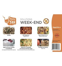Happy Yak Solutions Week-end (-1% de gluten)