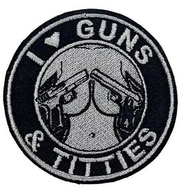 Custom Patch Canada I Love Guns & Titties Patch