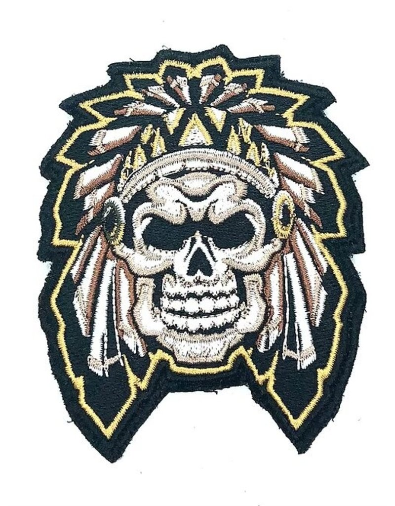 Custom Patch Canada Aztek Skull Patch