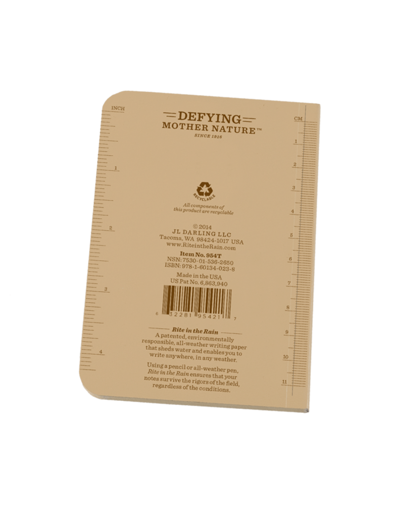 "Rite in the Rain 3 1/2"" x 5"" Soft Cover Pocket Book"