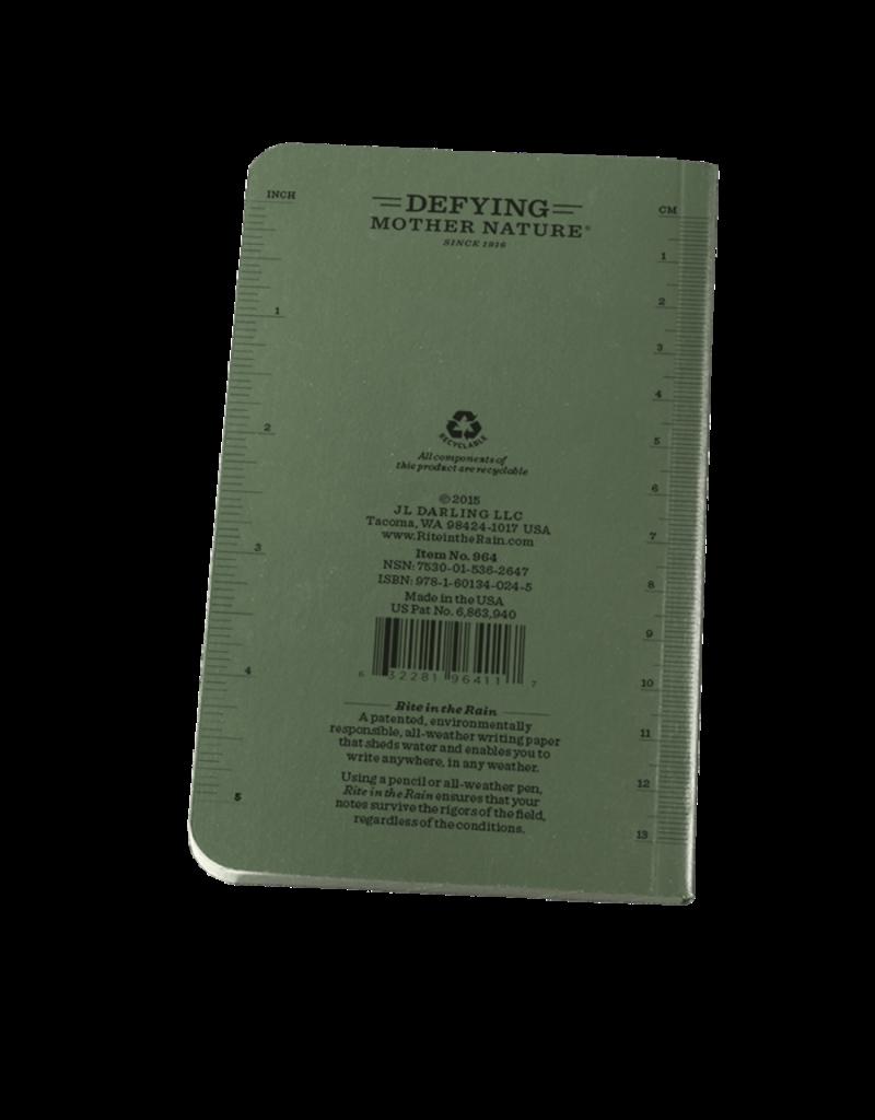 "Rite in the Rain 3 1/2"" x 6"" Soft Cover Pocket Book"